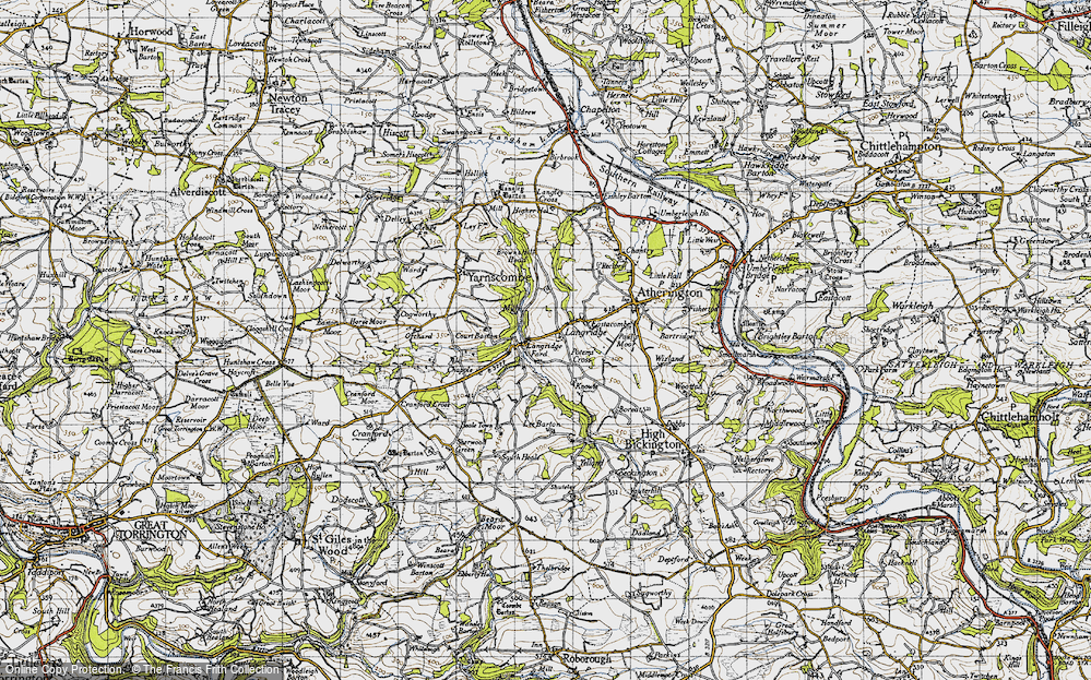 Old Map of Langridgeford, 1946 in 1946