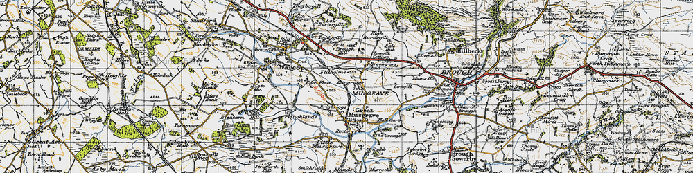 Old map of Langrigg in 1947