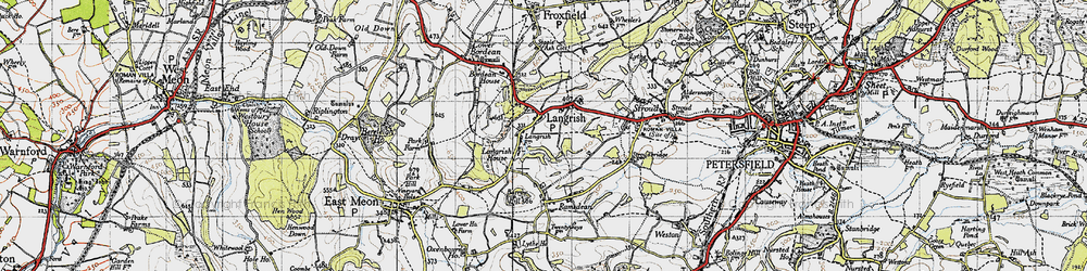 Old map of Langrish in 1945