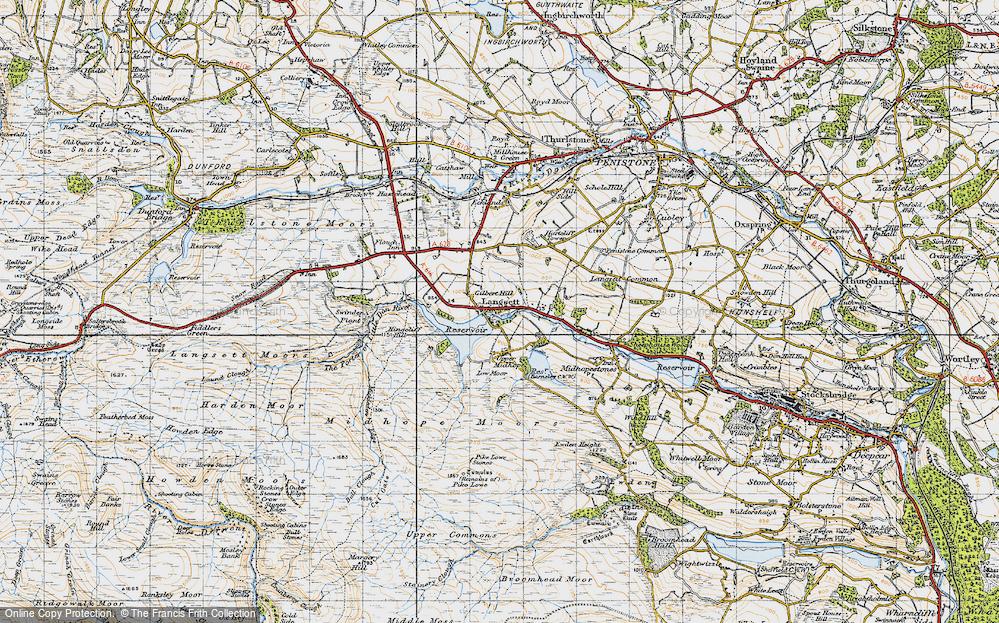 Old Map of Langsett, 1947 in 1947