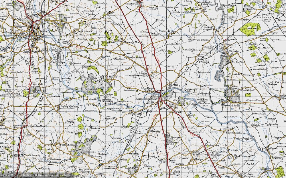 Old Map of Langthorpe, 1947 in 1947