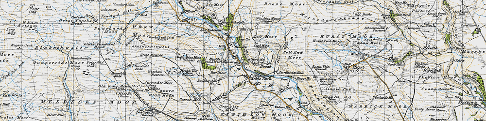 Old map of Langthwaite in 1947