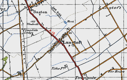 Old map of Willowfield in 1946