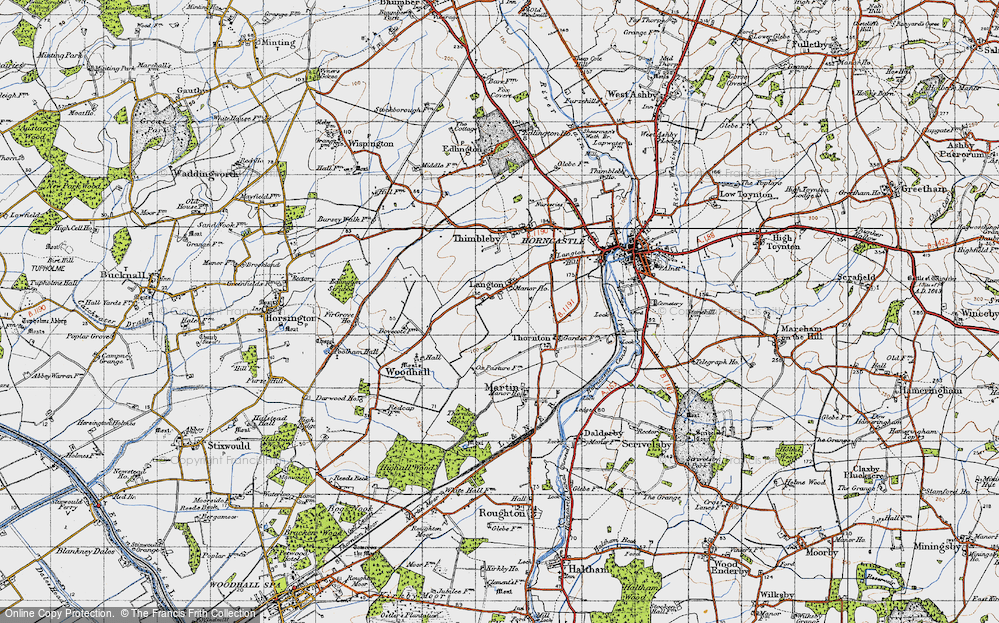 Old Map of Langton, 1946 in 1946