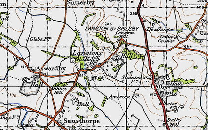 Old map of Langton in 1946