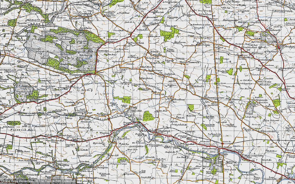 Old Map of Langton, 1947 in 1947