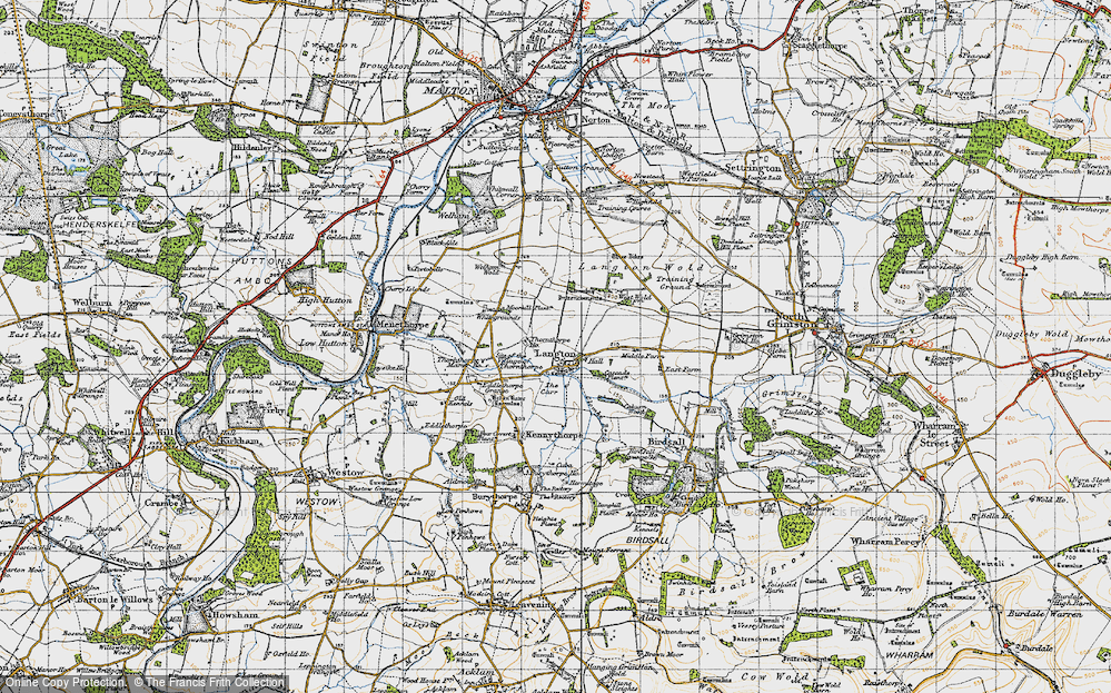 Old Map of Historic Map covering Whitegrounds in 1947