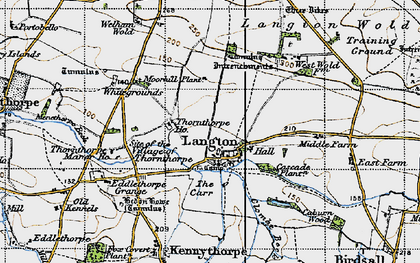 Old map of Langton Wold in 1947