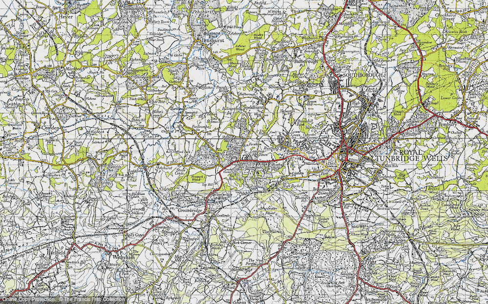Old Map of Historic Map covering Ashurst Place in 1946