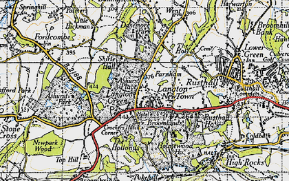 Old map of Ashurst Place in 1946