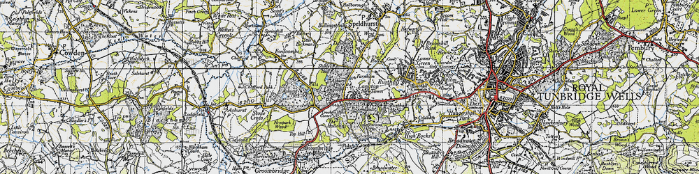 Old map of Langton Green in 1946