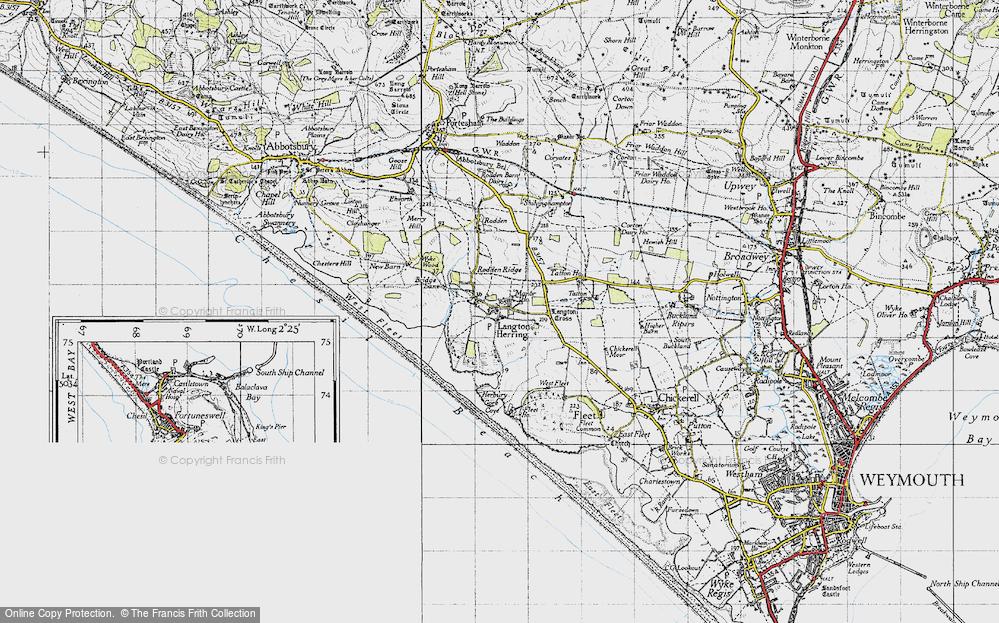 Old Map of Langton Herring, 1946 in 1946