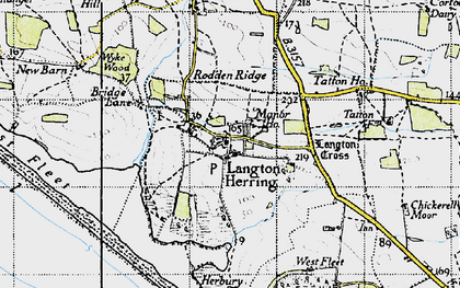Old map of Langton Cross in 1946