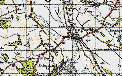 Old map of Langwathby in 1947