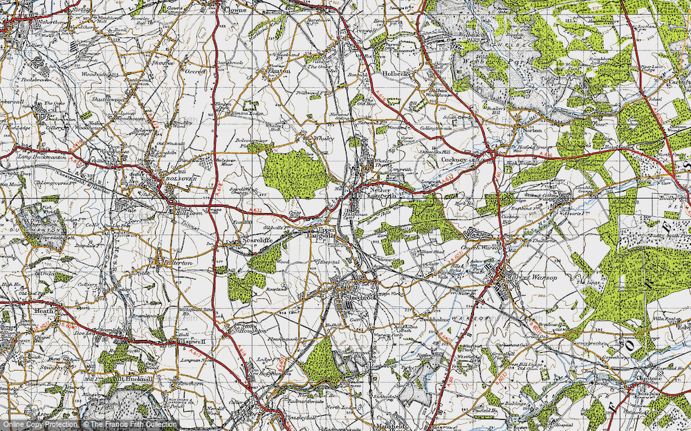 Old Map of Langwith, 1947 in 1947