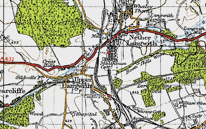 Old map of Langwith in 1947