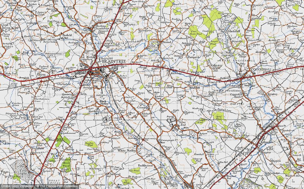 Old Map of Lanham Green, 1945 in 1945