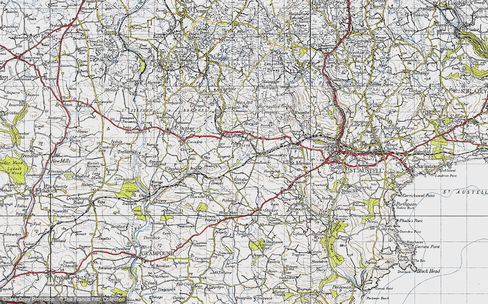 Old Map of Lanjeth, 1946 in 1946