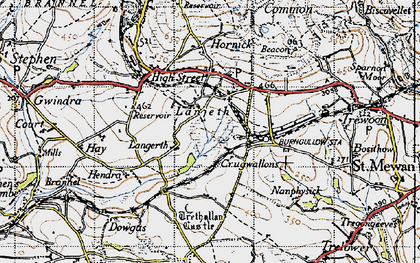 Old map of Lanjeth in 1946