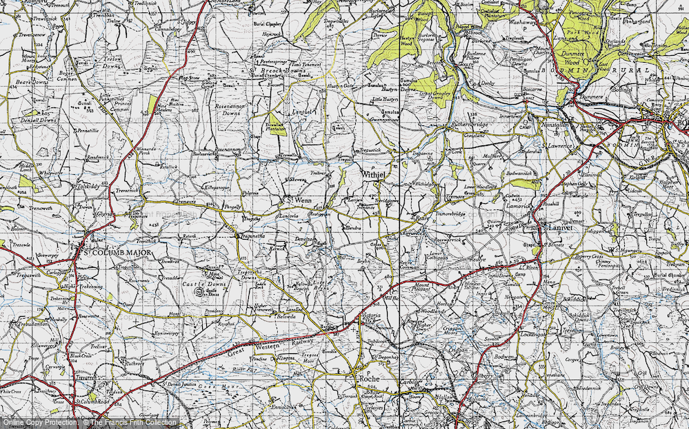 Old Map of Lanjew, 1946 in 1946