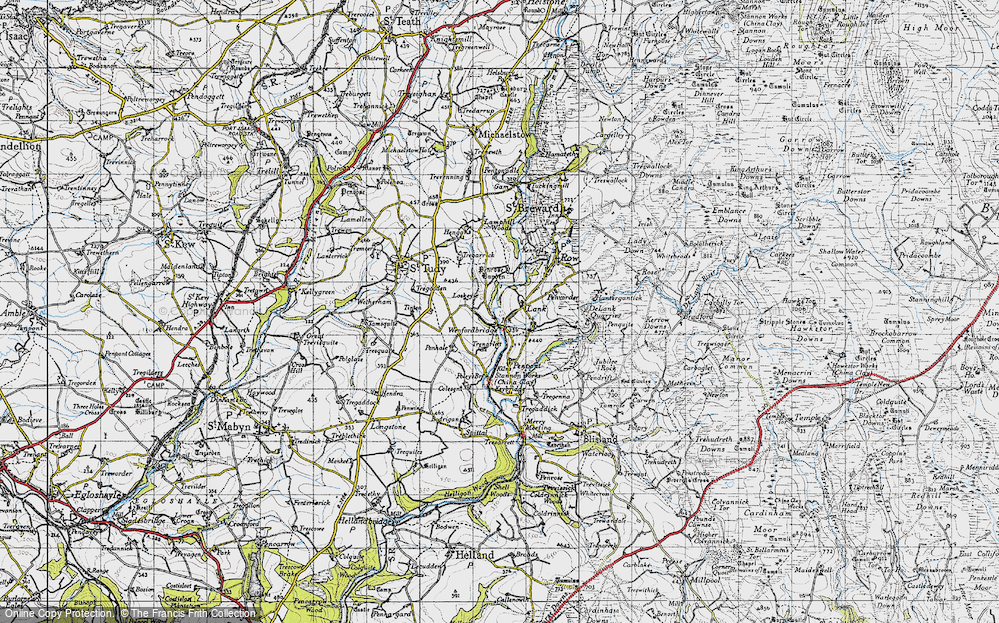 Old Map of Lank, 1946 in 1946