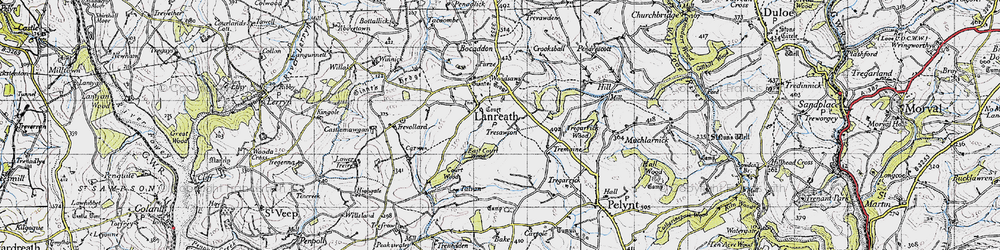 Old map of Lanreath in 1946
