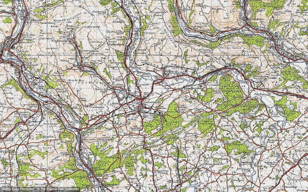 Old Map of Lansbury Park, 1947 in 1947