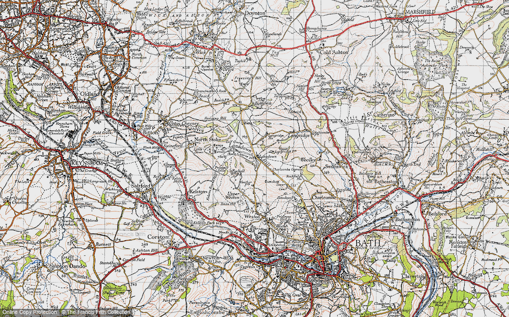 Old Map of Lansdown, 1946 in 1946