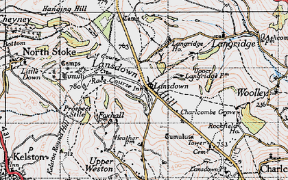 Old map of Lansdown in 1946