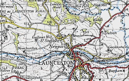 Old map of Lanstephan in 1946