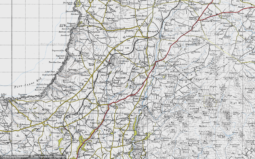 Old Map of Lanteglos, 1946 in 1946