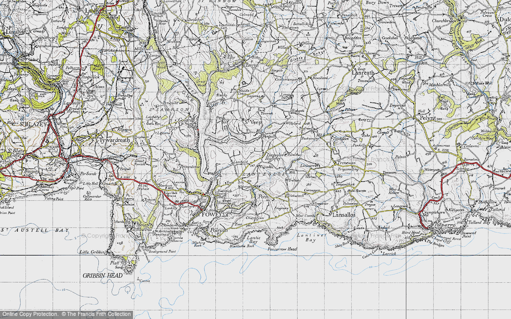 Old Map of Lanteglos Highway, 1946 in 1946