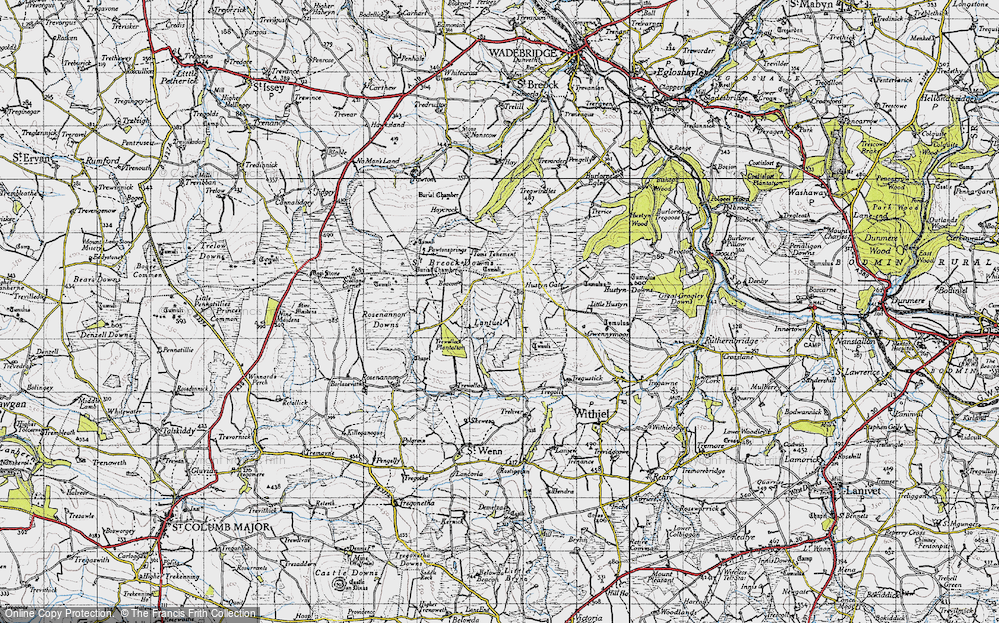 Old Map of Lantuel, 1946 in 1946