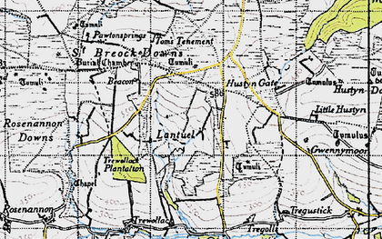 Old map of Lantuel in 1946