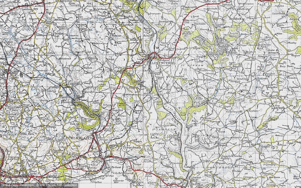 Old Map of Lantyan, 1946 in 1946