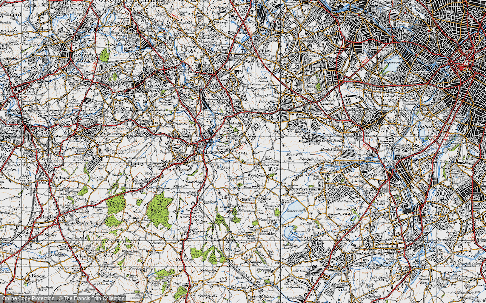 Old Map of Lapal, 1947 in 1947