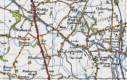 Old map of Lapworth in 1947