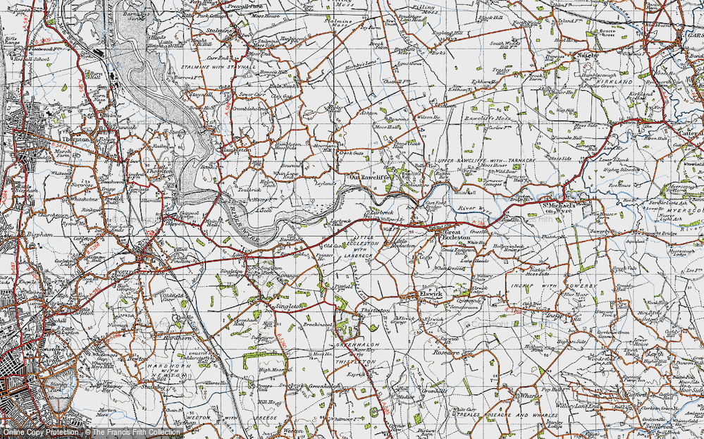 Old Map of Larbreck, 1947 in 1947