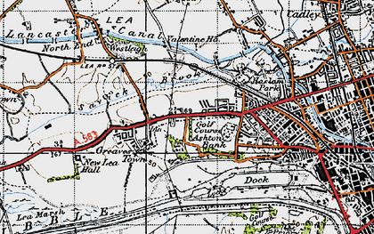Old map of Ashton Park in 1947