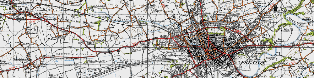 Old map of Larches in 1947