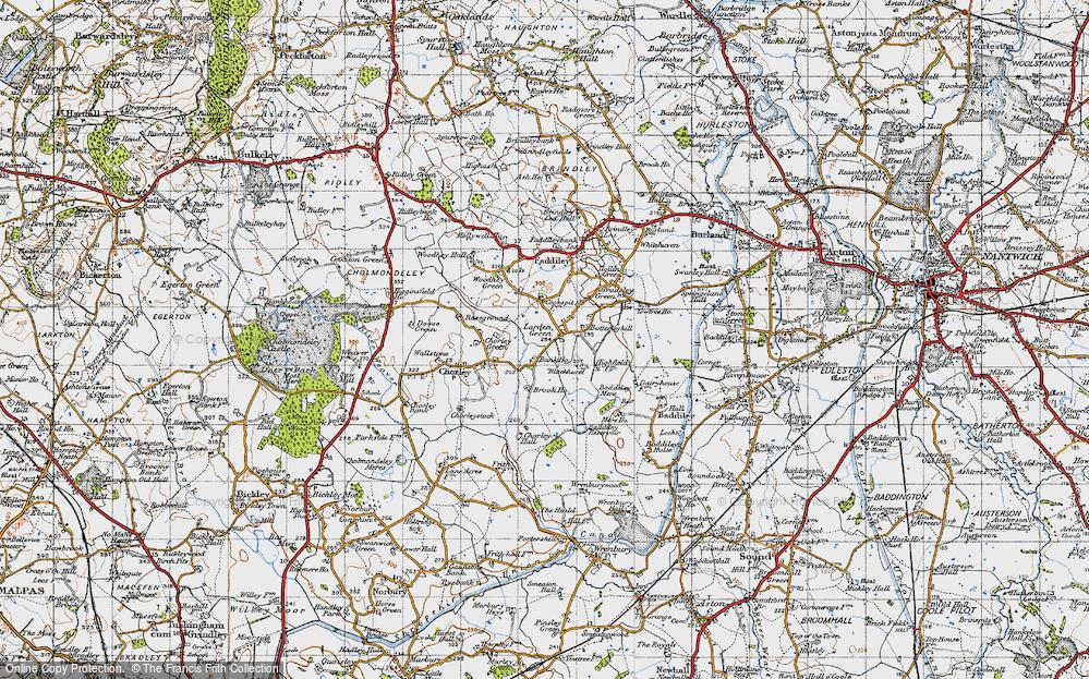 Old Map of Larden Green, 1947 in 1947