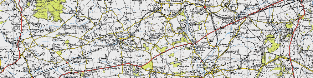 Old map of Larkbeare Court in 1946