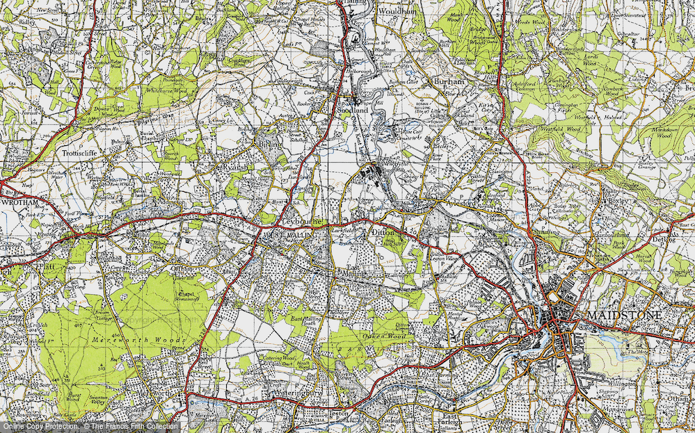 Old Map of Larkfield, 1946 in 1946
