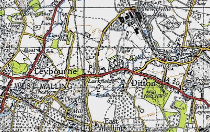 Old map of Larkfield in 1946