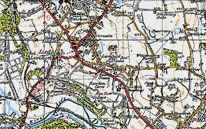 Old map of Larkfield in 1947