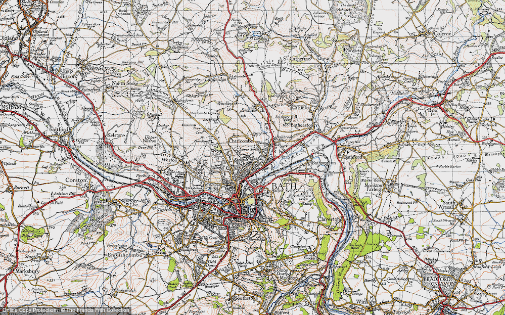Old Map of Larkhall, 1946 in 1946