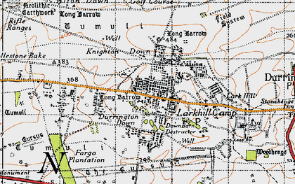 Old map of Stonehenge in 1940