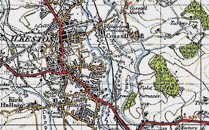 Old map of Larklands in 1946