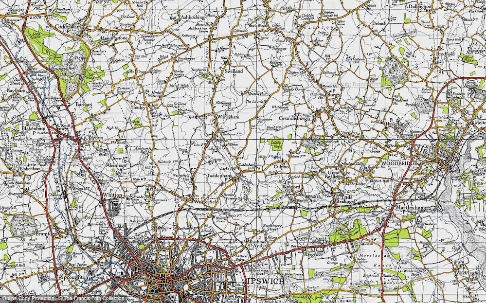 Old Map of Larks' Hill, 1946 in 1946