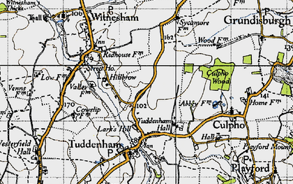 Old map of Larks' Hill in 1946